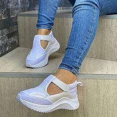 Women's PU Others Flats Round Toe Sneakers With Velcro shoes