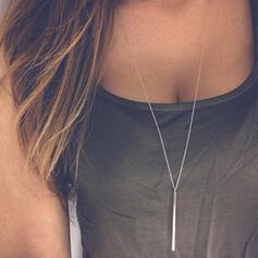 Classic Simple Alloy Women's Necklaces