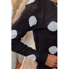 PolkaDot Round Neck Casual Sweaters