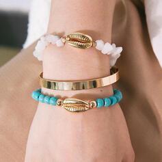 Stylish Delicate Romantic Alloy With Beads Women's Ladies' Girl's Bracelets 3 PCS