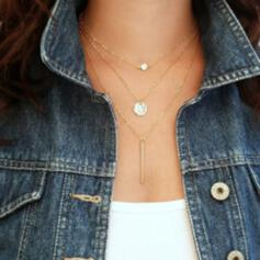 With Gold Plated Women's Ladies' Necklaces 1 PC