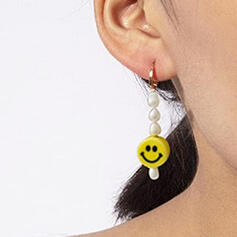 Simple Delicate Luck Pearl With Circle Decor Women's Ladies' Girl's Earrings