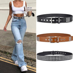 Women's Classic/Exquisite/Artistic/Simple Buckle Faux Leather With Rivet Belts