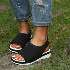 Women's Flying Weave Wedge Heel Sandals Platform Wedges Peep Toe Heels With Hollow-out shoes