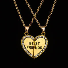 Heart Shaped Alloy With Heart Women's Necklaces
