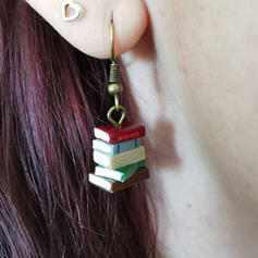 Layered Alloy With Resin Women's Earrings