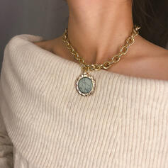 Sexy Charming Artistic With Gold Plated Minimalist Circle Decor Women's Ladies' Necklaces 1 PC