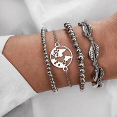 Unique Chic Stylish Alloy Women's Ladies' Girl's Bracelets 4 PCS
