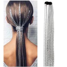 Unique Fashionable Elegant Alloy With Metal Chain Décor Women's Ladies' Girl's Hair Accessories 4 PCS