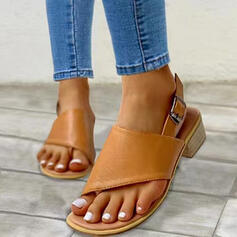 Women's PU Chunky Heel Sandals Heels With Buckle shoes