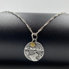 Unique Exotic Stylish Alloy With Circle Decor Women's Ladies' Girl's Necklaces
