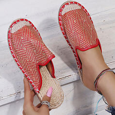 Women's PU Flat Heel Sandals Flats Closed Toe Slippers With Splice Color shoes