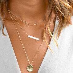 Charming Pretty Artistic Romantic Alloy With Minimalist Ladies' Necklaces