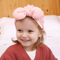 Child's Simple Polyester With Bowknot Beanie/Slouchy
