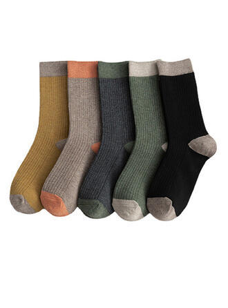 Solid Color Comfortable/Crew Socks/Unisex Socks