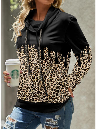 Leopard High Neck Long Sleeves