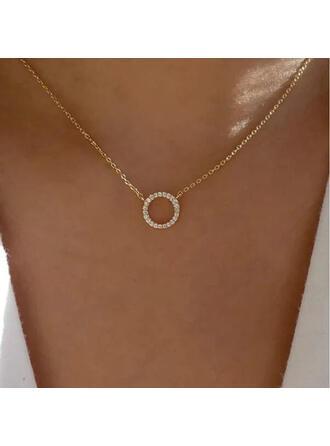 Shining Simple Alloy Rhinestones Women's Necklaces