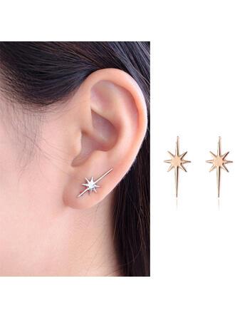 Pretty Fancy Delicate Star Alloy Women's Earrings 2 PCS