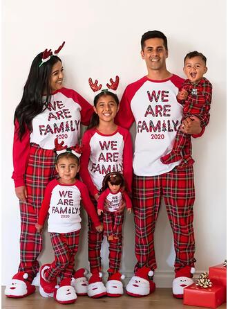 Plaid Letter Family Matching Christmas Pajamas