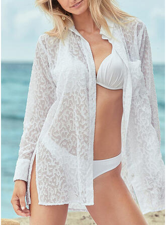Solid Color High Neck Sexy Fresh Cover-ups Swimsuits
