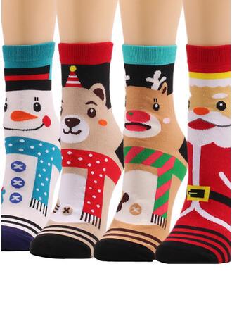 Christmas Colorful Socks (Set of 4 pairs)