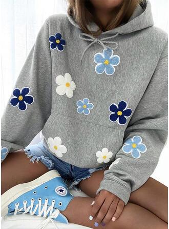 Floral Long Sleeves Hoodie