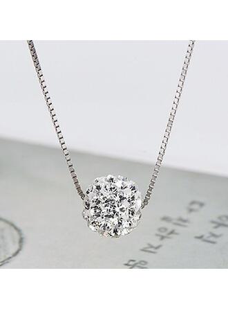Attractive Charming Elegant Artistic Delicate Alloy With Rhinestones Women's Ladies' Necklaces