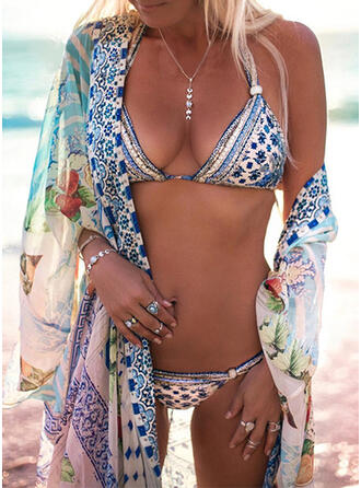 Low Waist Print Halter Sexy Bohemian Bikinis Swimsuits