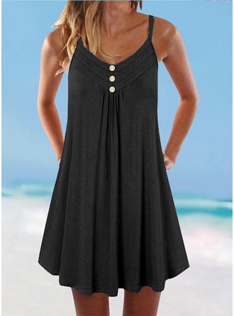 Solid Color Strap Plus Size Boho Cover-ups Swimsuits