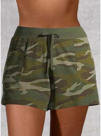 Plus Size Camouflage Casual Print Shorts