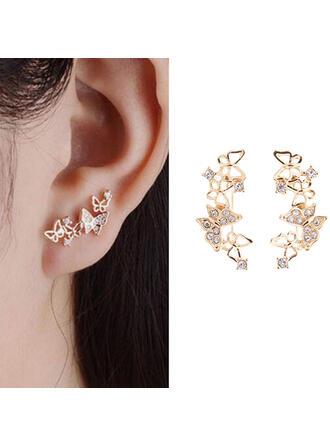 Pretty Fancy Butterfly Delicate Alloy Women's Earrings 2 PCS