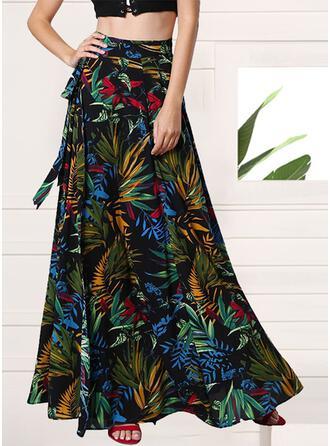 Cotton Print Floor Length A-Line Skirts