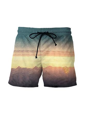 Men's Print Board Shorts Swimsuit