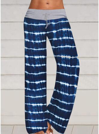 Striped Drawstring Long Casual Sexy Pants