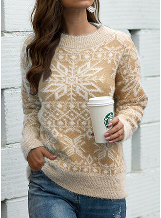 Women's Cotton Print Ugly Christmas Sweater