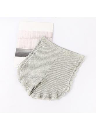 Lace Plain Ruffles Brief Panty