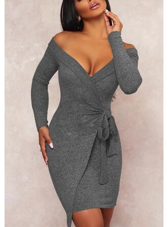 Long Sleeves Knee Length Sexy Dresses