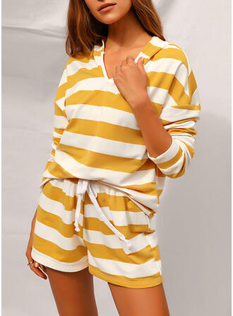 Striped Casual & Two-Piece Outfits Set