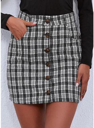 Plaid Above Knee Vintage Sexy