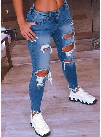 Ripped Tassel Sexy Vintage Denim & Jeans